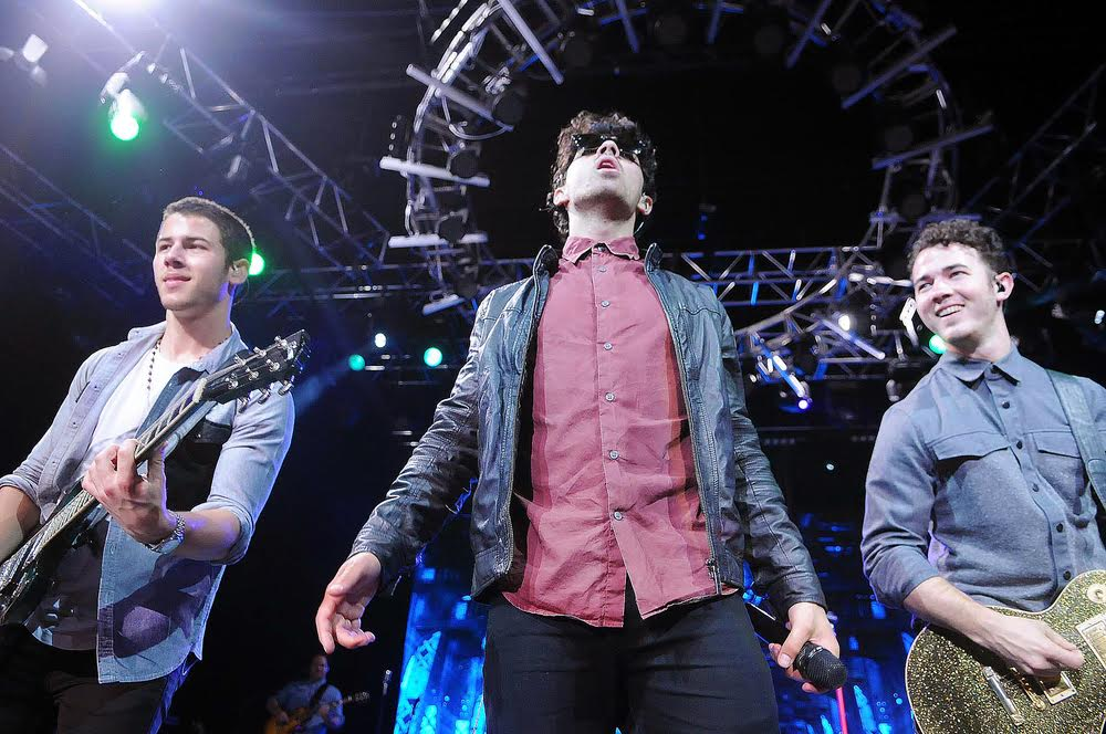 This is a picture of the Jonas Brothers on stage!