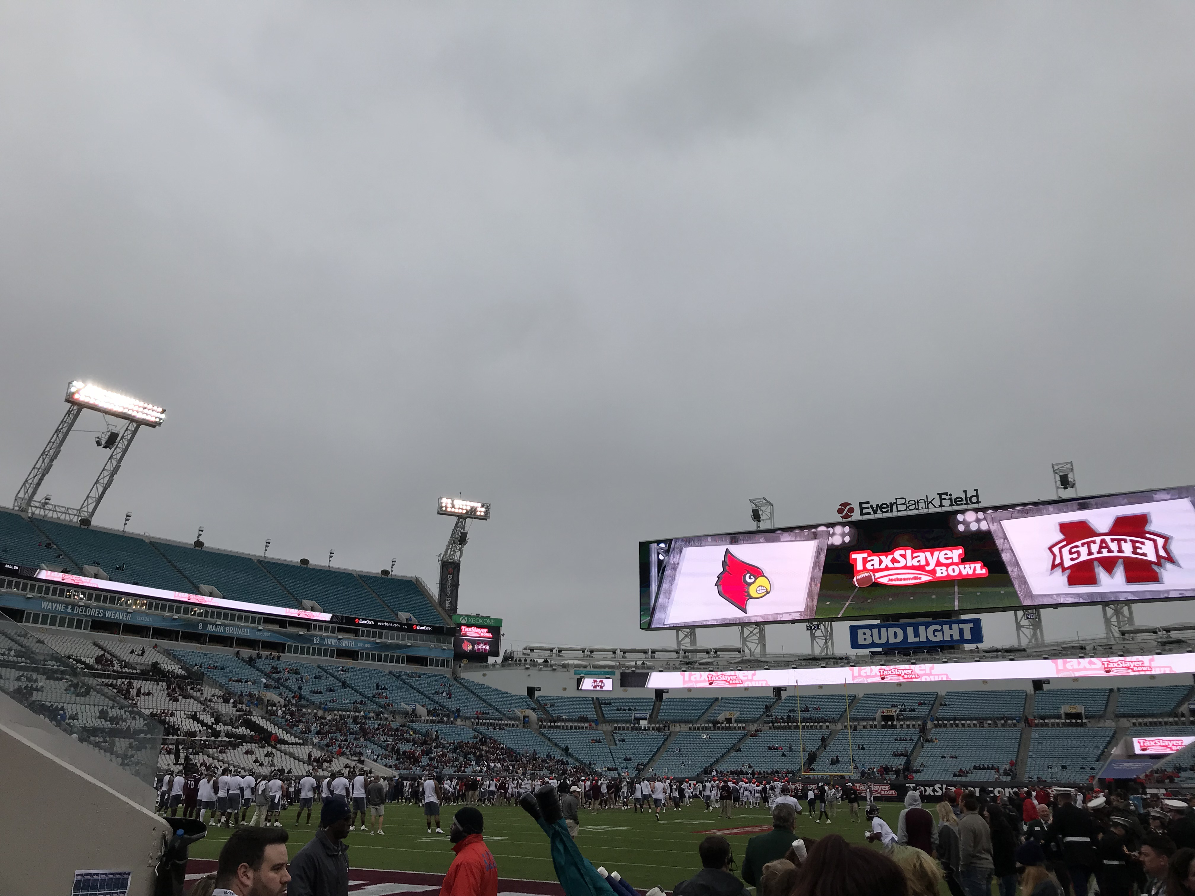 View from the field, photo: Maroon & Gray