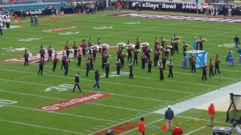 NHS band on Everbank Field, photo: Patrick Somers