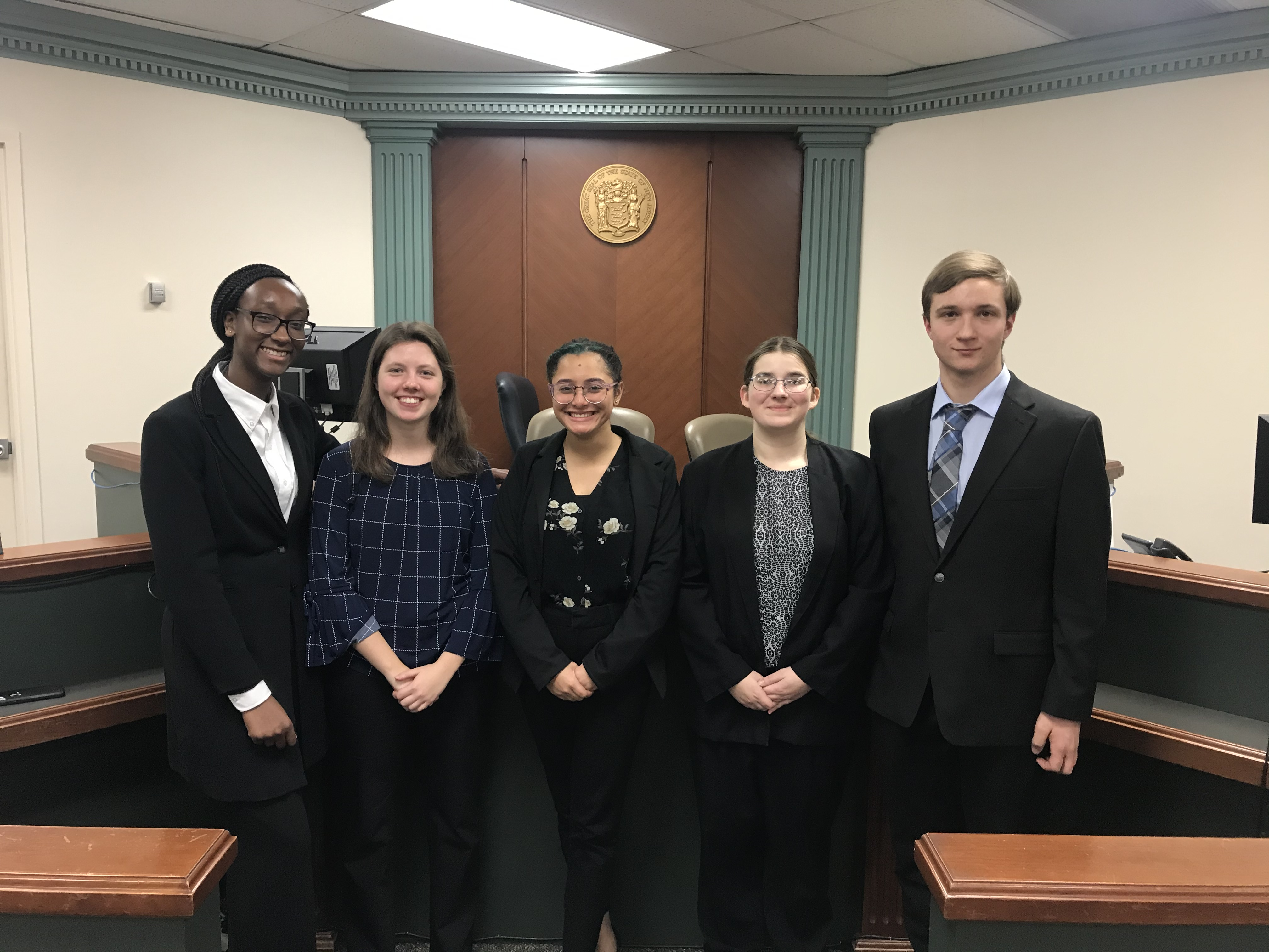Pictured in the round 2 photo (left to right): Amandine Soho, Hannah  Lewis, Emory Osmani, Emily Jablonowski, Nicholas Russo