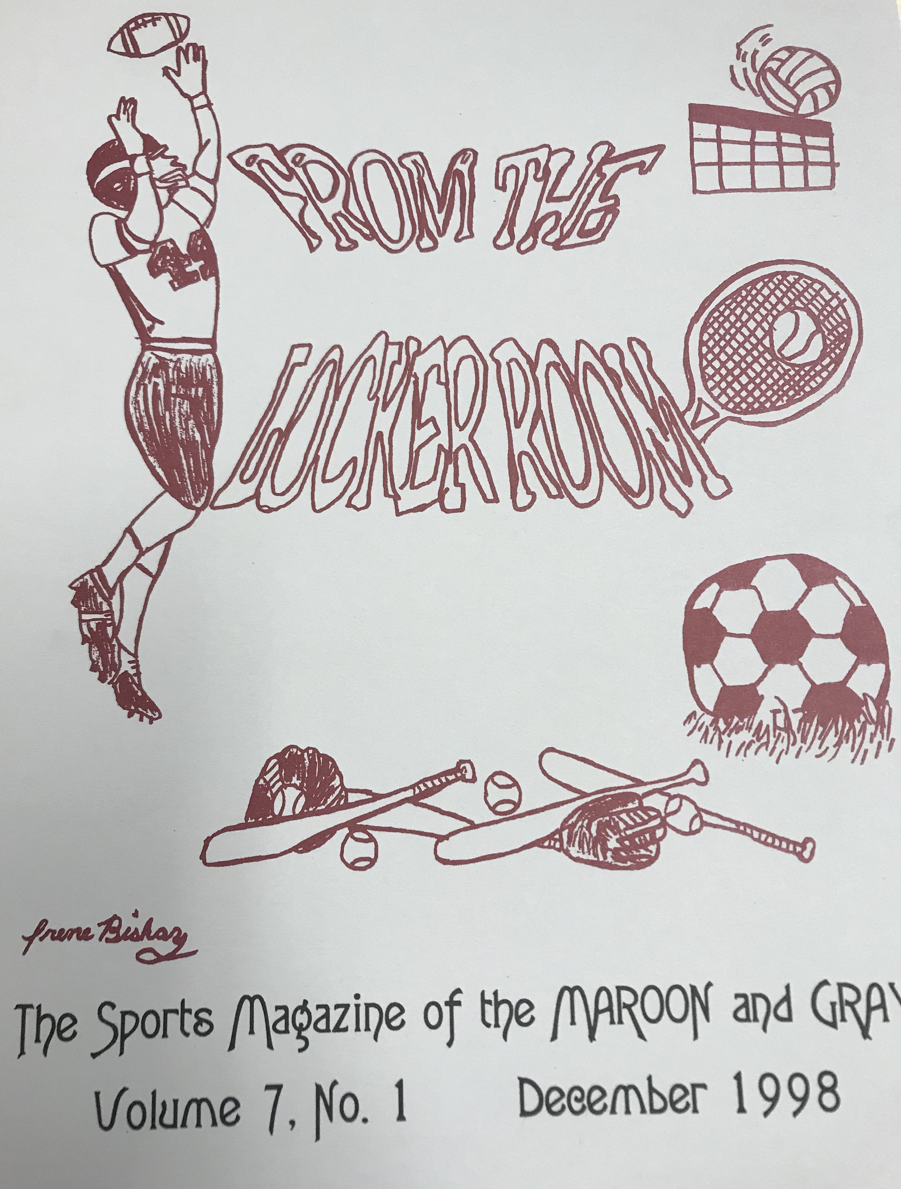 "The Maroon and Gray issue ""The Locker Room"" from December 1998"