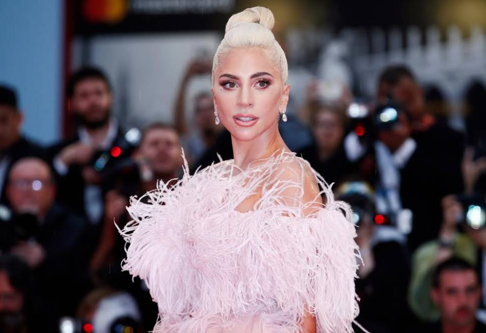 Lady GaGa at the premiere of her movie A Star is Born