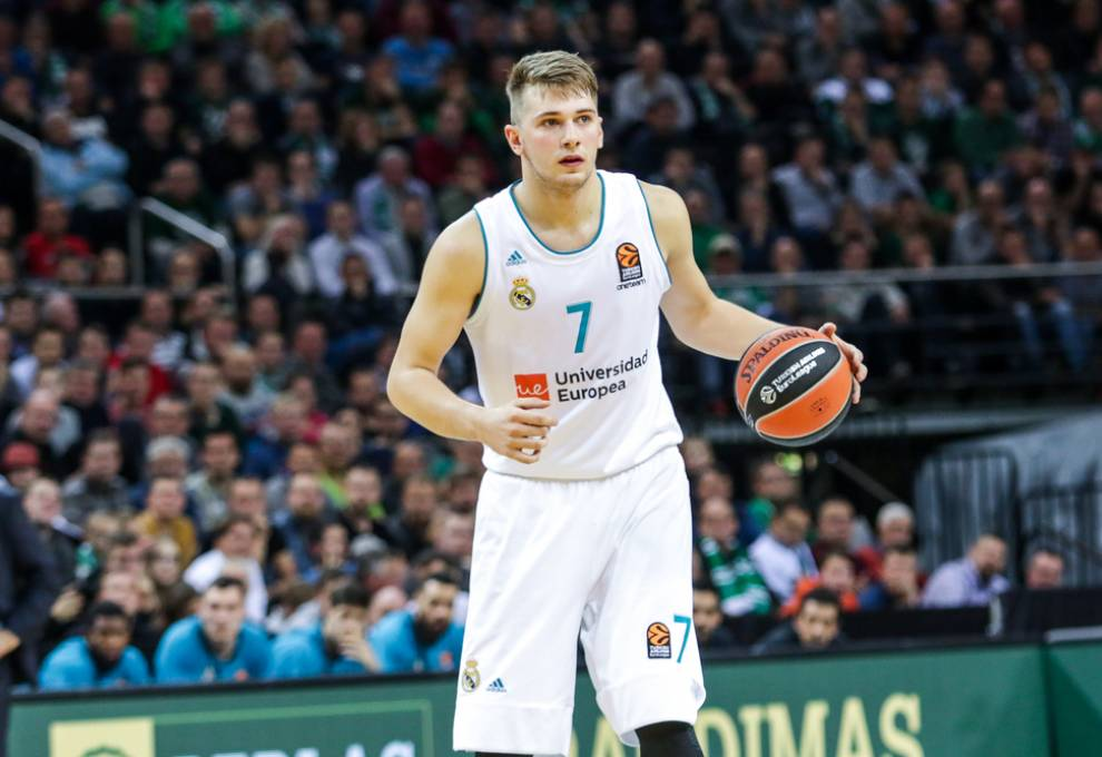Pictured here is Guard Luka Doncic during a Euroleague game