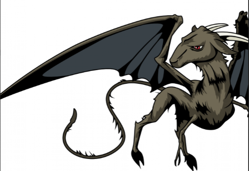 An illustration of what the Jersey Devil is interpreted to look like