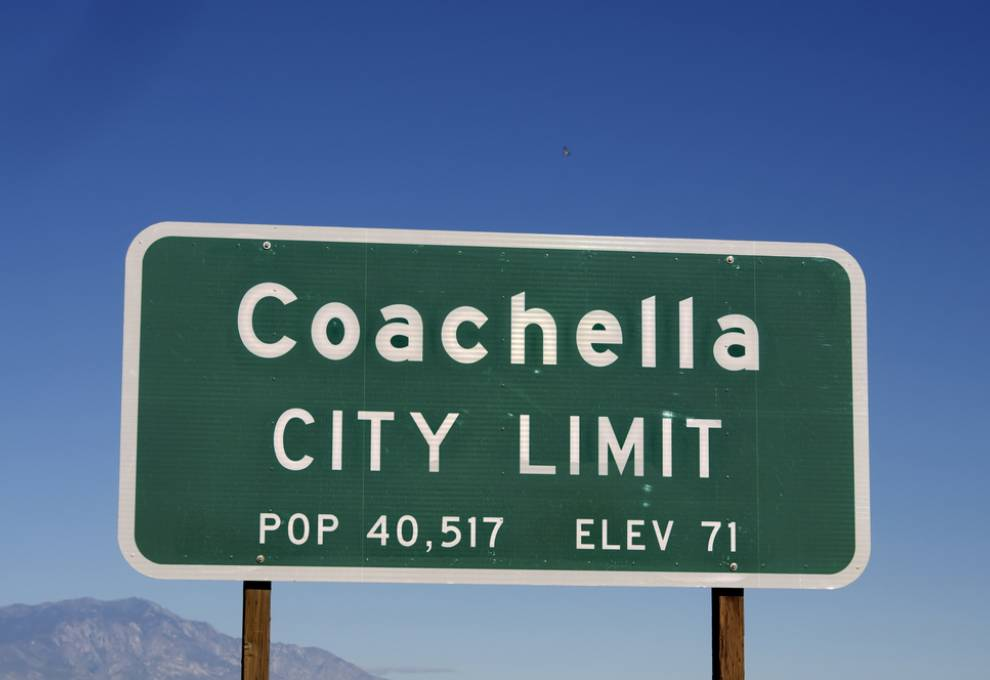 Sign of Coachella Valley