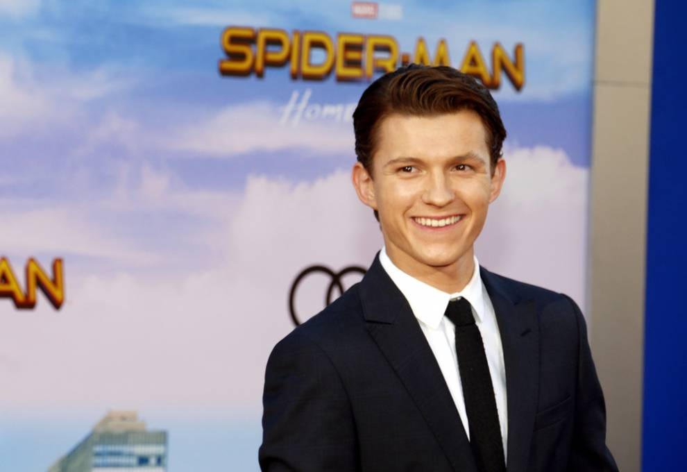 Tom Holland at one of the Spiderman: Far From Home premieres.