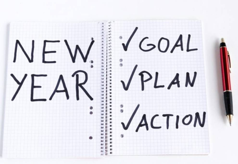 Make a habit of visualizing your goals for the New Year.