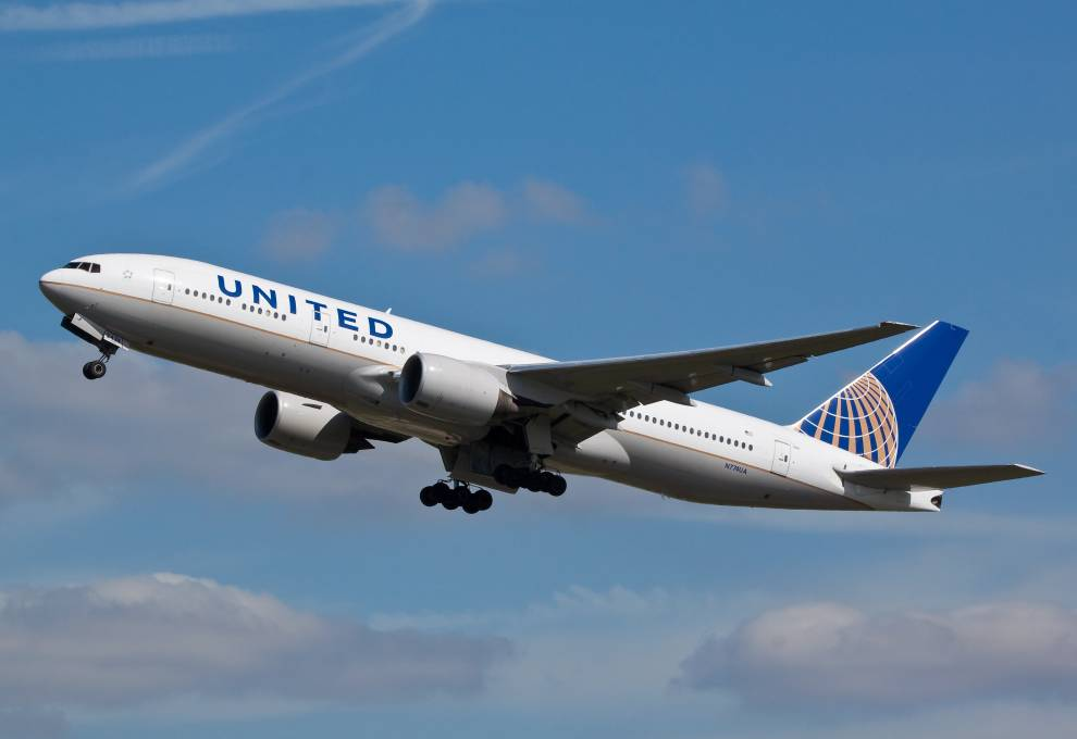 United Airlines Plane Taking Flight