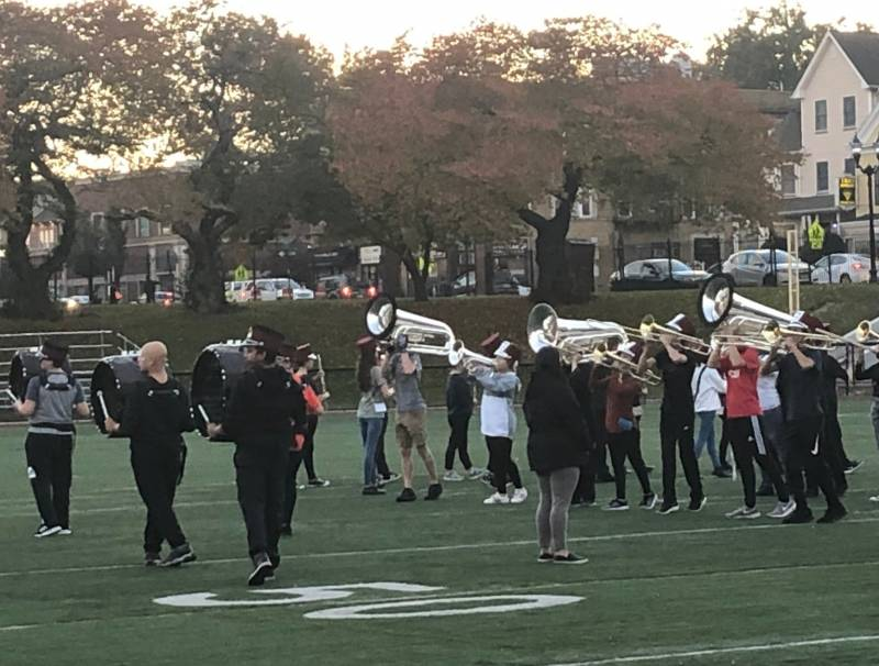 NHS Marching Band at their recent practice