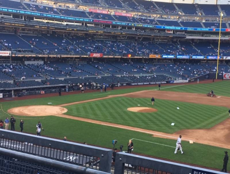 Yankees playing at Yankee Stadium