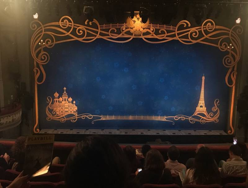 Stage at Broadhurst Theater for Anastasia
