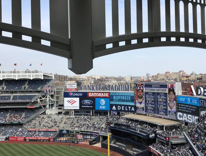 Matchup between the New York Yankees and Baltimore Orioles at Yankee Stadium