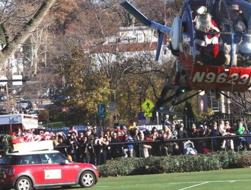 Santa's annual arrival onto the Nutley Oval