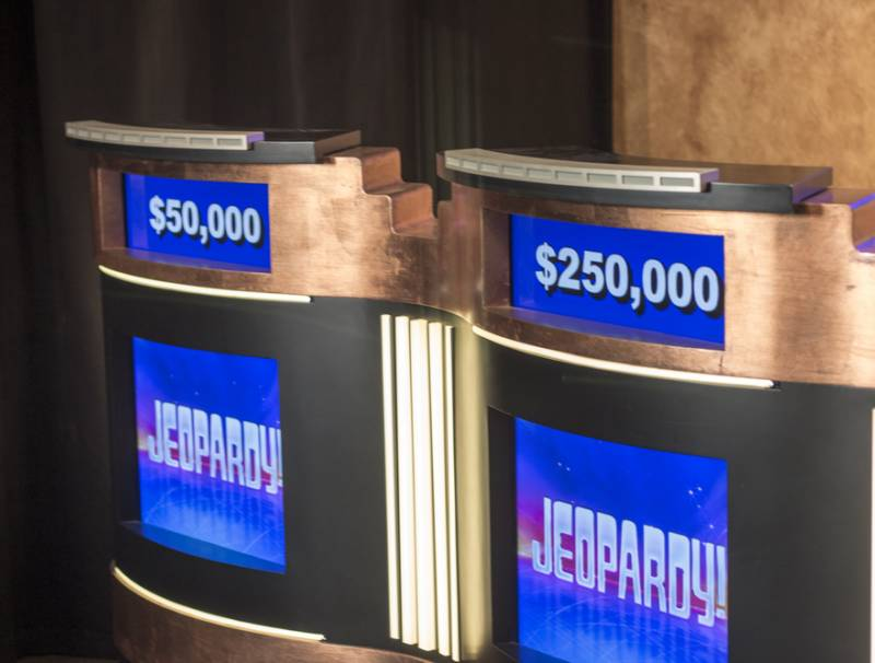 Jeopardy podiums