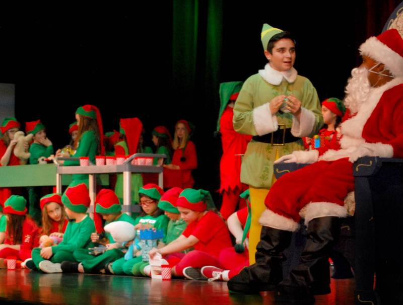 Armani Calvo in 8th grade in the play Elf Jr.