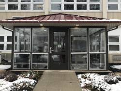 NHS's new security entrance located on Brown Street. Photo: Maroon & Gray